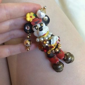 Vintage Handmade Minnie Mouse Disney Brooch Pin